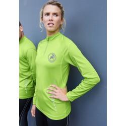 T -shirt de sport manches longues femme G-Tech 1/4 zip long sleeve woman t shirt