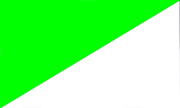 fluo green - white