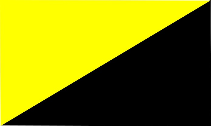Fluorescent yellow- black